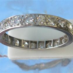 Full Eternity Ring in 18ct White Gold c.1930