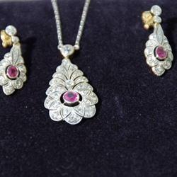 A Stylish Ruby and Diamond Pendant