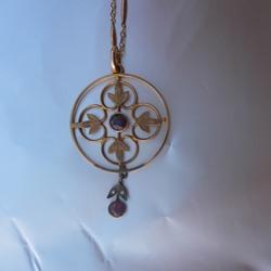 Antique Victorian Garnet Pendant