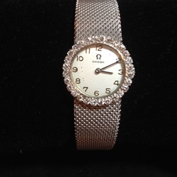 Omega Ladies Watch with Diamond Bezel 1960