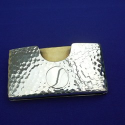 Silver Card Case with Notepad in Fitted Case 1896
