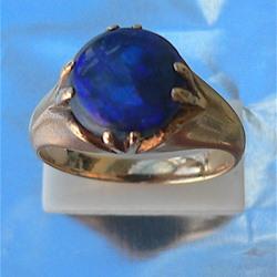 Victorian Black Opal Ring