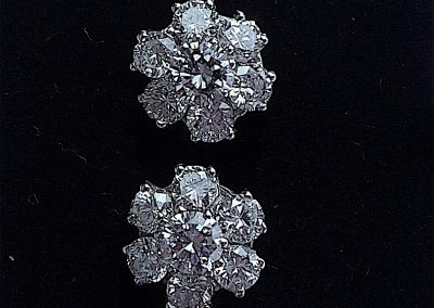 Bright sparkling daisy cluster earrings