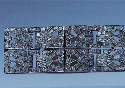 Stunning Art Deco Diamond and Platinum brooch