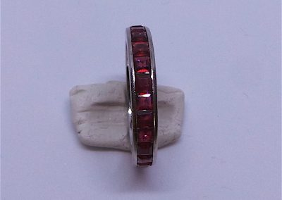 Ruby Eternity ring in 18 carat white gold