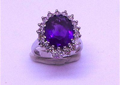 Wonderful Amethyst and Diamond Ring