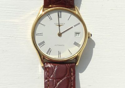 Lovely Longines gents dress watch in 18 carat gold