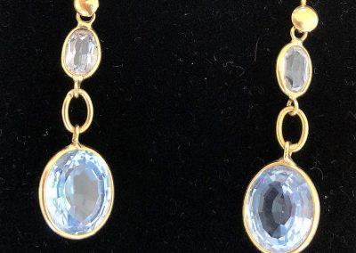 Elegant Topaz drop earrings