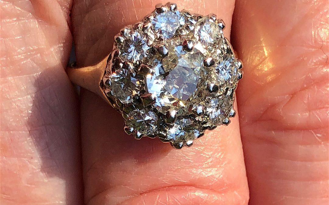 Victorian Sparkler in 18 carat gold