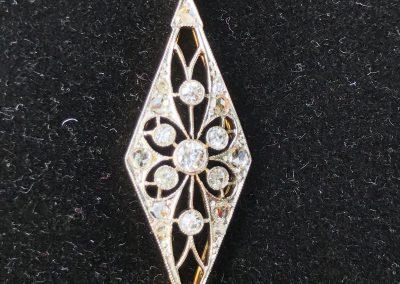 LovelyEdwardian diamond bracelet in 15 carat gold, platinum fronted