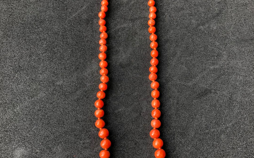 Vibrant String of Coral beads with 9ct clasp