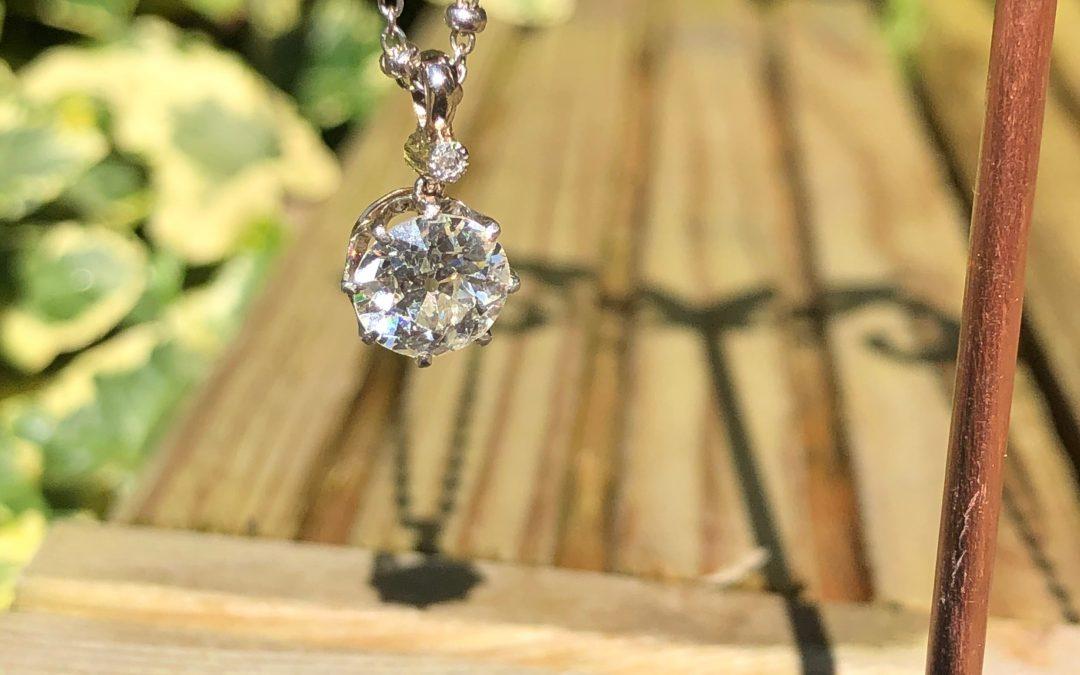 Fiery Old cut Diamond Pendant