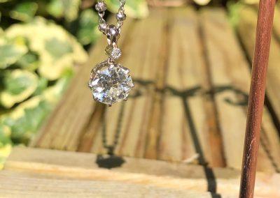 Fiery Old cut Diamond Pendant